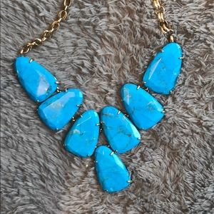 Kendra Scott Harlow turquoise necklace